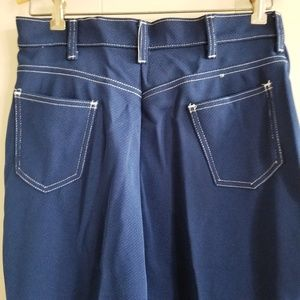 1970s Montgomery Ward Blue, 100% Poly, Flare Pants